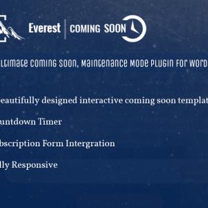 Everest Coming Soon – WordPress Plugin