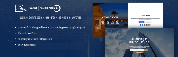 Everest Coming Soon – WordPress Plugin