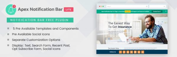 Responsive Notification Bar Plugin for WordPress – Apex Notification Bar Lite