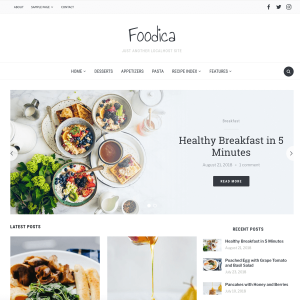 Foodica WordPress Theme (Blogging/Food)