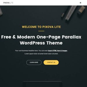 Pixova Lite One Page - WordPress Theme