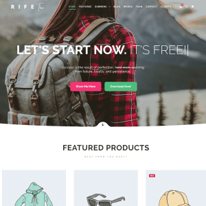 Rife Free - WordPress Theme